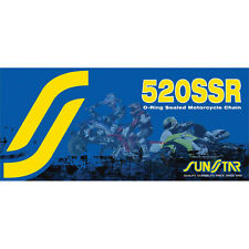 Sz 100 Links Sunstar 520SSR Sealed O-Ring Motorcycle Chain - SS520SSR-100