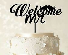 Welcome Mr Cake Topper Custom Personalized Cake Topper Decoration Cake Topper