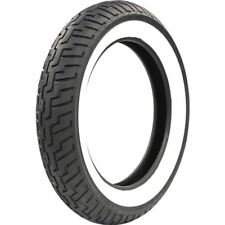 140/80-17 Dunlop D404 Wide White Wall Front Tire