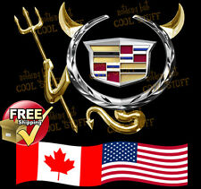 CADILLAC ~ 3D Gold , Red  or Chrome Devil Decal Sticker For Car Emblem Logo GTC
