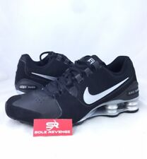 New Men's Nike Shox Avenue Leather Running Shoes Black Gray Silver 833584 001 f1