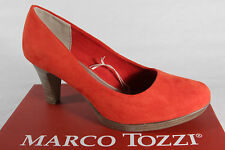 Marco Tozzi Court shoes Ballerina Slippers red soft inner sole faux leather new