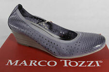 Marco Tozzi Court shoes Ballerina Slippers blue soft inner sole Real leather NEW