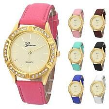 Geneva Womens Girls Watches Crystal Faux Leather Quartz Dress Wrist Watches