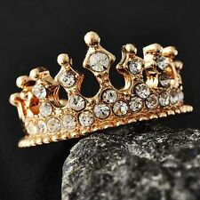 Gorgeous Gold Filled Womens Imperial crown Promise Love Ring Size 5 6 7 8 9 10