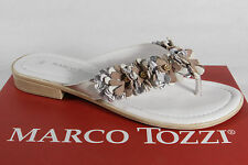 Marco Tozzi Toe thong mules Backless Sandals Sandals white silver beige new