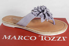 Marco Tozzi Toe thong mules Backless Sandals Sandals Real leather Blue New