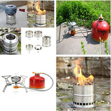 Portable Gas Stove Furnace Split Burner Outdoor Camping Hiking Picnic Cookware F