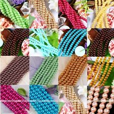 Strand Loose Round Pearl Spacer Ball Beads Charm Jewelry Findings DIY Wholesale