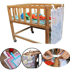New Baby Crib Cot Bed Clothes Diaper Organizer Storage Mesh Bag Laundry Basket