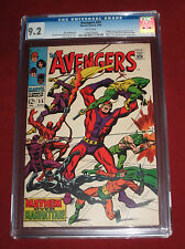 Avengers #55 CGC 9.2 White Pages ~ Super Key Issue! ~ *1st Appearance of Ultron!