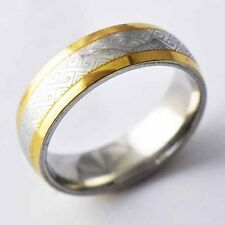 trendy White/14K gold filled womens Mens vintage Ring lot Size 7,8,9,10,11