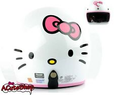 Hello Kitty Motorcycle 3/4 Helmet RETRO Face White Sanrio