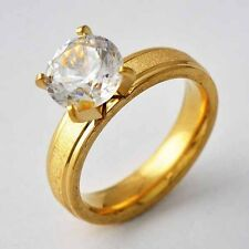 Womens Gold Filled Swarovski Crystal Eternity Wedding Ring Size 6 7 8 9