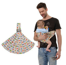 Baby Colorful Cartoon Fanned Sling Carrier Wrap Infant Baby Cradle Sling Carrier