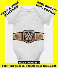 Baby One Piece Romper Onesie WWE World Heavyweight Champion belt cotton romper