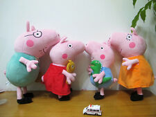 Brand New VERY LARGE TY PEPPA PIG/George FAMILY SOFT PLUSH TOY~15 INCHES~38CM