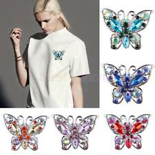 Wedding Bride Butterfly crystal rhinestone fashion pin brooch Collar Jewelry