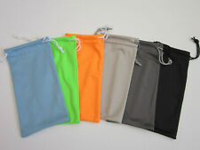 100 PCS Microfiber Sunglass Eyeglass Glasses Pouches US Seller Pick Color