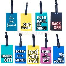 Secure Travel Suitcase Luggage Tag ID Address Holder Silicone Identifier Label