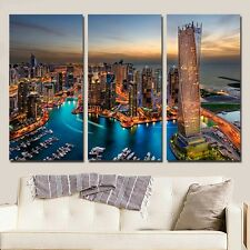 Dubai Night HD Canvas Oil Painting Print Art Wall Decor for Living Room Unframed