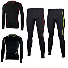 New Men Sports Skin Tights Compression Base Under Layer Long Shirts Top & Pants