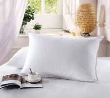 500 Thread Count Goose Down Firm Filled Pillow (Single) 100% Cotton
