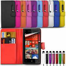 HTC Desire 630 - Leather Wallet Card Slot Case Cover & Mini Stylus