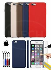Apple iPhone 6S - Leather Hard Back Case Cover, Mini Stylus & GLASS Protector
