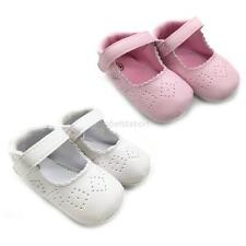 Toddler Baby Girl Cozy Soft Soles Crib Shoes PU Leather Prewalker Newborn to 18M