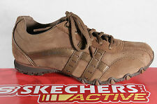 Skechers Men's Lace-up Shoes Sneakers trainers brown, Leather/faux leather new
