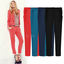 Women Lady's Korean OL Casual Loose Harem Pants Trousers Slim Comfy Pencil Pants