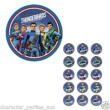 THUNDERBIRDS EDIBLE ICING CAKE IMAGE OR CUPCAKE TOPPERS (15) DECORATING FONDANT