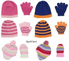 Tick Tock Knitted Kids Infant Baby Warm Winter Snow Skate Beanie Hats & Gloves
