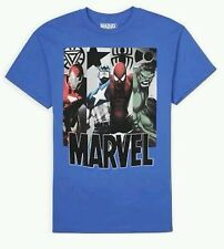 MARVEL IRON MAN CAPTAIN AMERICA SPIDERMAN HULK T-SHIRT MEN'S SZ S - 2XL