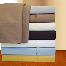 Cotton Rich 1000 Thread Count Solid Sheet Set