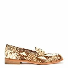 Elia B Shoes Penny Lane Python Print Patent Leather Loafer