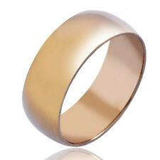 18K Gold Mens Womens Band Ring Fashion jewelry Vintage style Size 10,11