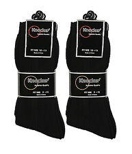 Lot 6 or 12 Pairs Wholesale Knocker Men's Black Dress Socks 9-11 10-13