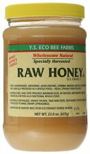 NEW 22 Ounce Unheated And Unprocessed Eco Bee Farms Raw Honey By YS Royal Jelly