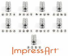 ImpressArt - 4 Pack Design Metal Stamps, 6mm Jewelry & Craft (Select Stamp)