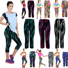 Women High Waist Fitness Yoga Sport Pants Lady Printed Stretch Cropped Leggings