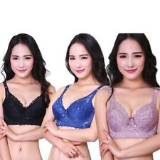 Women Lady Sexy Lace Crochet Embroidery Push Up Bra Underwire 36 38 40 42C
