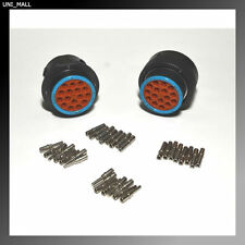 Deutsch HDP20 16-Pin Genuine Bulkhead Connector kit, 12 AWG Solid Contacts