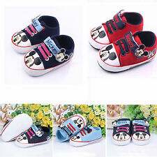 Newborn Baby Toddler Kids Boy Girls Mickey Mouse Soft Shoes Sneakers Pre Walkers