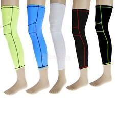 1pc Basketball Sports Compression Leg Knee Calf Support Guard Long Sleeve M-XL