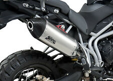 Yoshimura Exhaust RS-4 S/O Stainless Steel w/CF Cap Tiger 800XC 198002D520