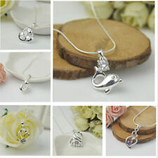 Women Jewelry Beautiful Silver Plated Fashion  Gift Pendant Necklace Chain