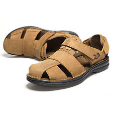 New Men's Genuine Leather  Shoes Fisherman Sandals Summer Casual Leather Shoes