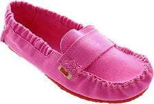 Mocks Saddie Canvas Women's Cannes Pink Elasticated Classic Moccasin Loafers New
